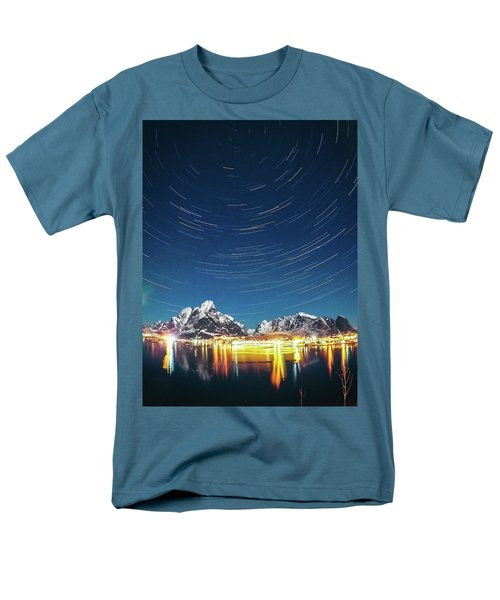 Startrails Above Reine Men's T-Shirt  (Regular Fit)