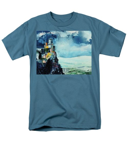 Men's T-Shirt  (Regular Fit) featuring the painting Storm The Castle by Tom Riggs