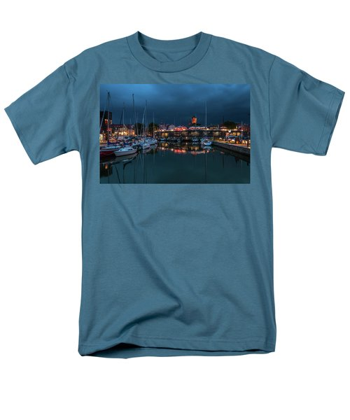 Stralsund At The Habor Men's T-Shirt  (Regular Fit) by Martina Thompson