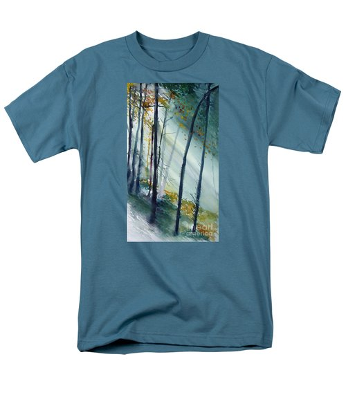 Men's T-Shirt  (Regular Fit) featuring the painting Study The Trees by Allison Ashton