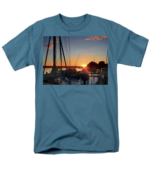 Men's T-Shirt  (Regular Fit) featuring the photograph Sturgeon Bay Sunset by Rod Seel