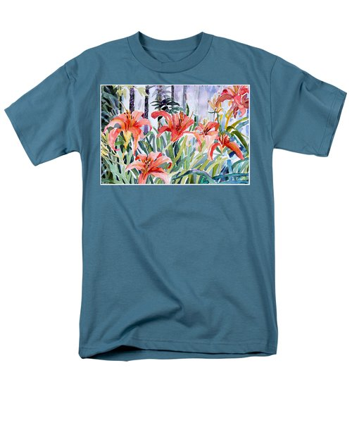 My Summer Day Liliies Men's T-Shirt  (Regular Fit) by Mindy Newman