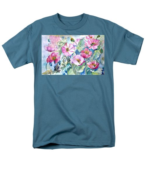 Summer Poppies Men's T-Shirt  (Regular Fit) by Iya Carson