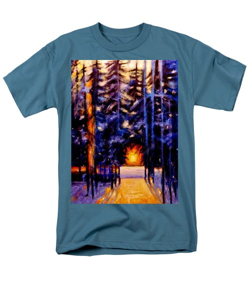 Men's T-Shirt  (Regular Fit) featuring the painting Sun Kiss..2 by Cristina Mihailescu