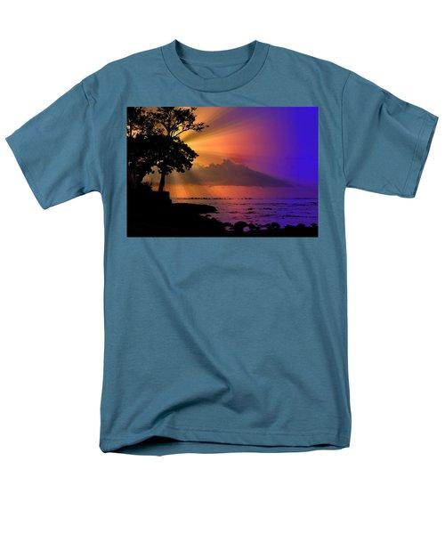 Men's T-Shirt  (Regular Fit) featuring the photograph Sun Rays Sunset by Lori Seaman