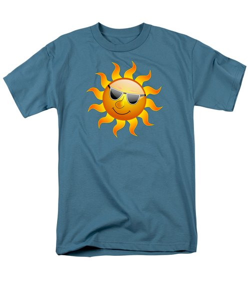 Men's T-Shirt  (Regular Fit) featuring the digital art Sun With Sunglasses by Movie Poster Prints