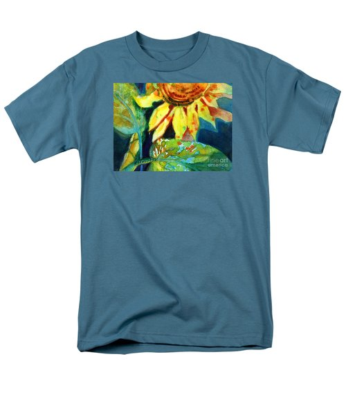 Sunflower Head 4 Men's T-Shirt  (Regular Fit) by Kathy Braud