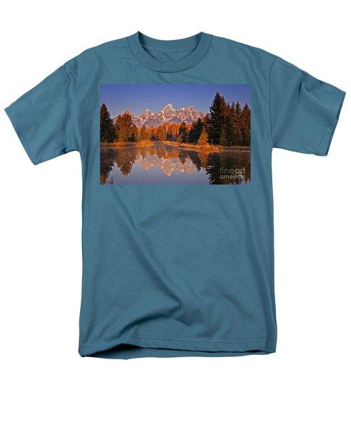 Sunrise At Schwabacher Landing  Men's T-Shirt  (Regular Fit) by Sam Antonio Photography