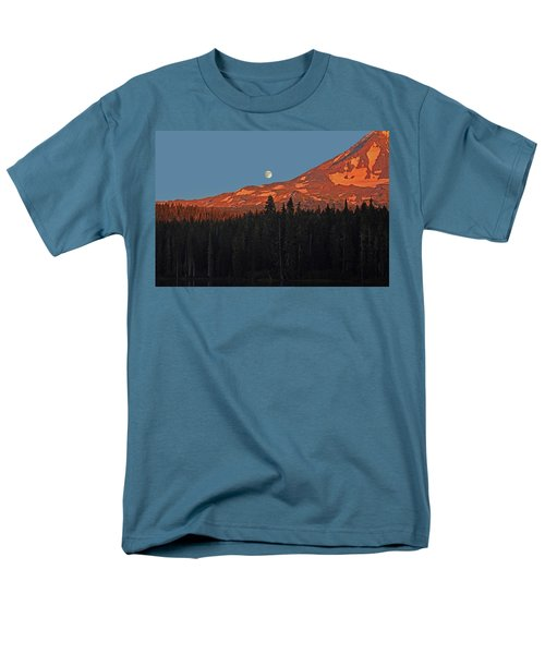 Men's T-Shirt  (Regular Fit) featuring the photograph Sunset And Sunrise At Mt Adams by Jack Moskovita