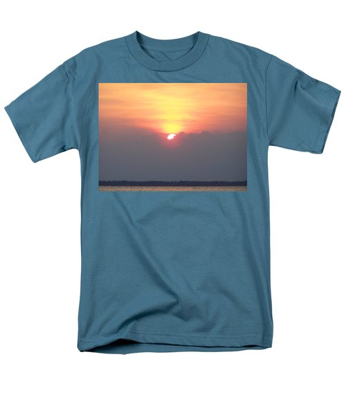 Men's T-Shirt  (Regular Fit) featuring the photograph Sunset And The Storm by Sandi OReilly