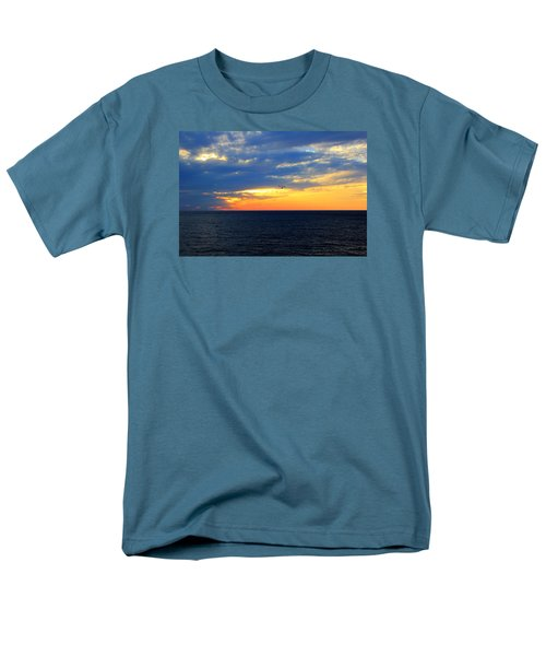 Men's T-Shirt  (Regular Fit) featuring the photograph Sunset At Sail Away by Shelley Neff