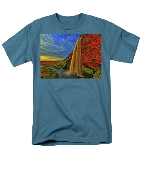 Men's T-Shirt  (Regular Fit) featuring the photograph Sunset At The Falls by Scott Mahon