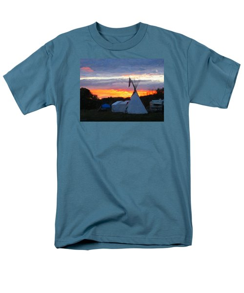 Sunset At The Powwow Men's T-Shirt  (Regular Fit) by Spyder Webb