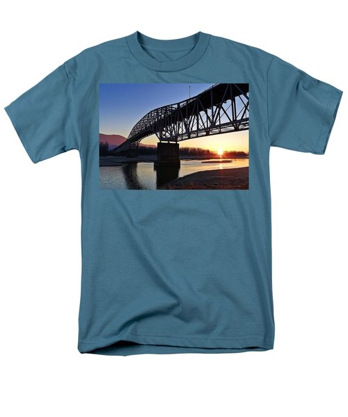 Fraser River, Bc  Men's T-Shirt  (Regular Fit) by Heather Vopni