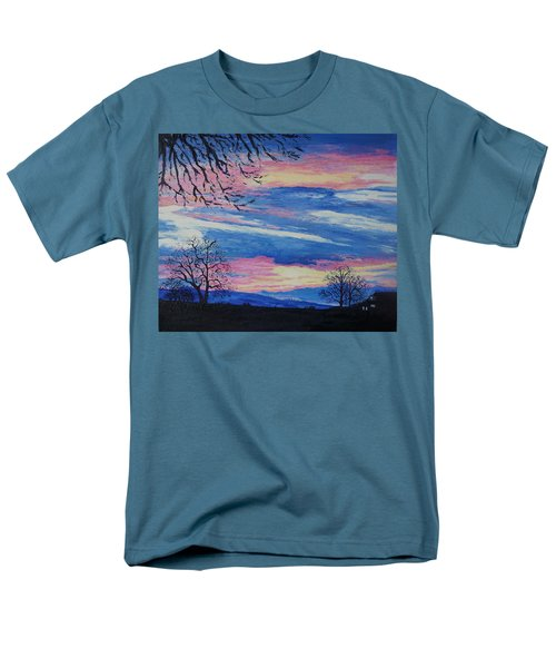 Sunset In The Country Men's T-Shirt  (Regular Fit) by Lisa Rose Musselwhite