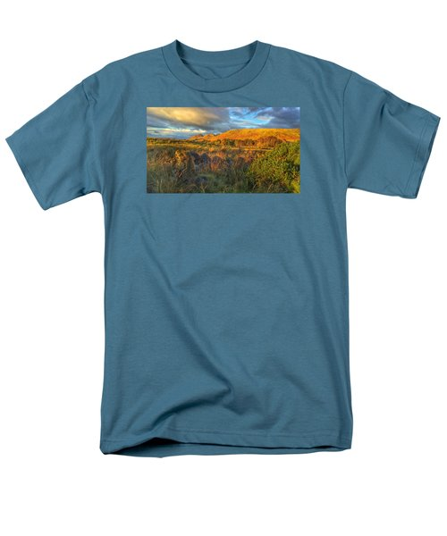 Men's T-Shirt  (Regular Fit) featuring the photograph Sunset Over The Campsie Fells by RKAB Works