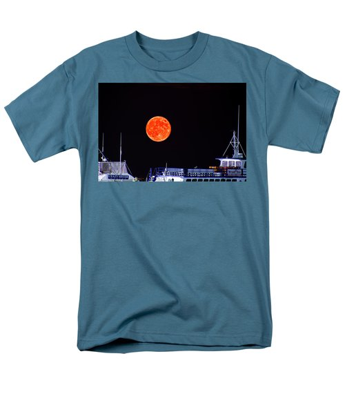 Men's T-Shirt  (Regular Fit) featuring the photograph Super Moon Over Crazy Sister Marina by Bill Barber