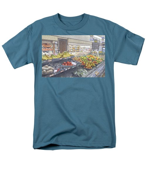 Men's T-Shirt  (Regular Fit) featuring the photograph Supermarket Produce Section by David Zanzinger