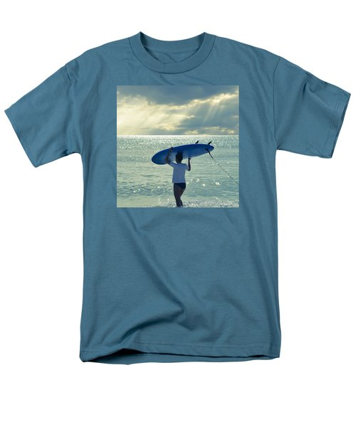 Surfer Girl Square Men's T-Shirt  (Regular Fit) by Laura Fasulo