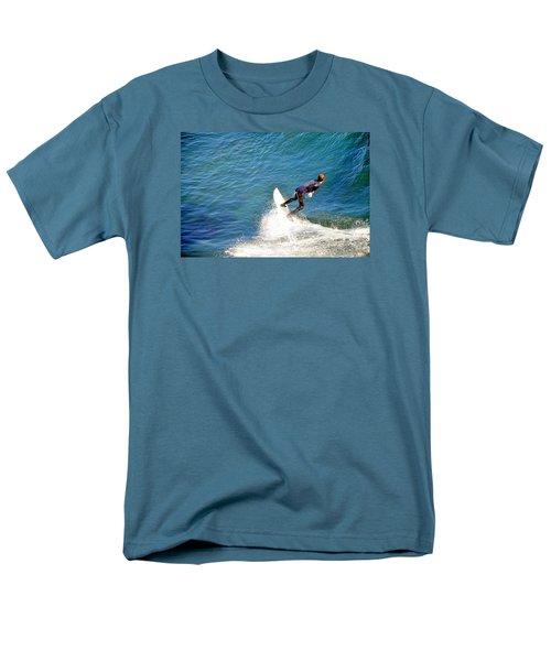 Surfer, Steamer Lane, Santa Cruz, Series 19 Men's T-Shirt  (Regular Fit) by Antonia Citrino