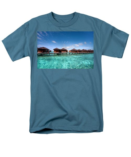 Men's T-Shirt  (Regular Fit) featuring the photograph Surrounded By Blue by Jenny Rainbow