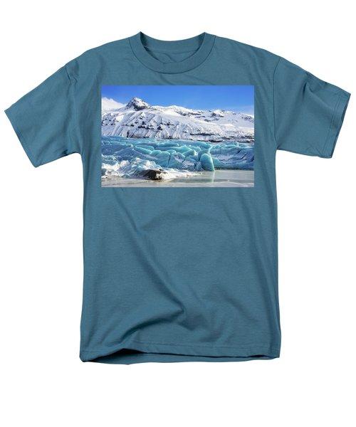 Men's T-Shirt  (Regular Fit) featuring the photograph Svinafellsjokull Glacier Iceland by Matthias Hauser
