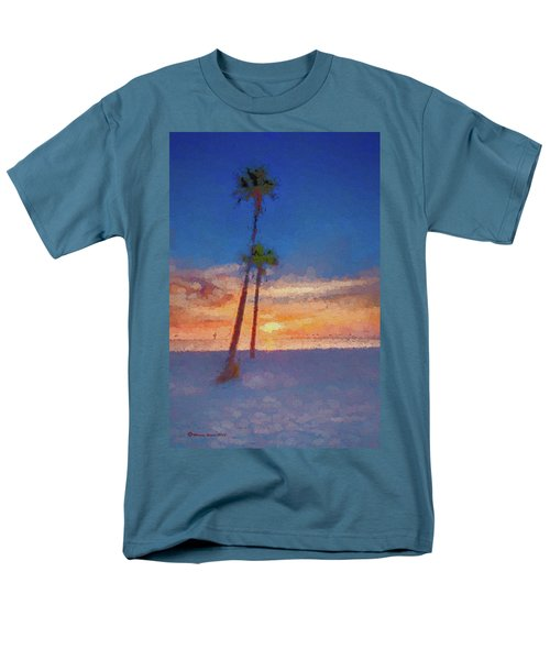 Men's T-Shirt  (Regular Fit) featuring the photograph Swaying Palms by Marvin Spates