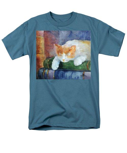 Sweet Dreams On The Books Men's T-Shirt  (Regular Fit) by Faruk Koksal