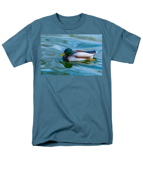 Swimming Duck Men's T-Shirt  (Regular Fit) by Pamela Williams