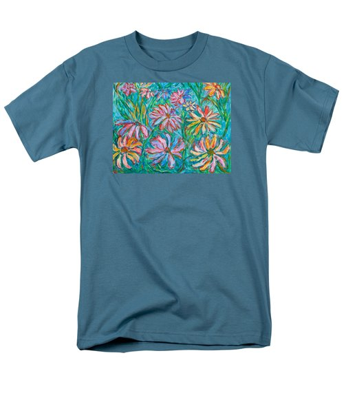 Men's T-Shirt  (Regular Fit) featuring the painting Swirling Color by Kendall Kessler