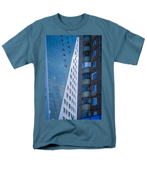 Men's T-Shirt  (Regular Fit) featuring the photograph Synergy Between Old And New Apartments by John Williams