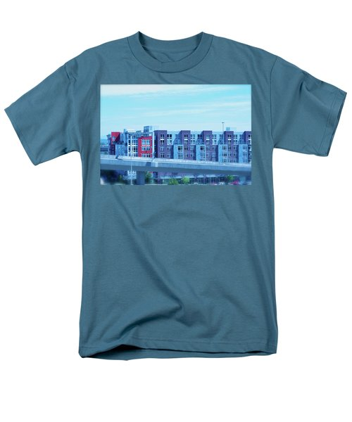 Tacoma Blues - Cityscape Art Print Men's T-Shirt  (Regular Fit) by Jane Eleanor Nicholas