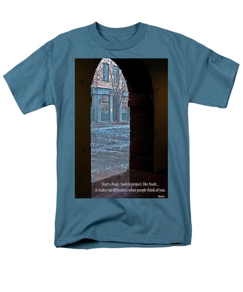 Men's T-Shirt  (Regular Fit) featuring the photograph Take A Chance by Rhonda McDougall