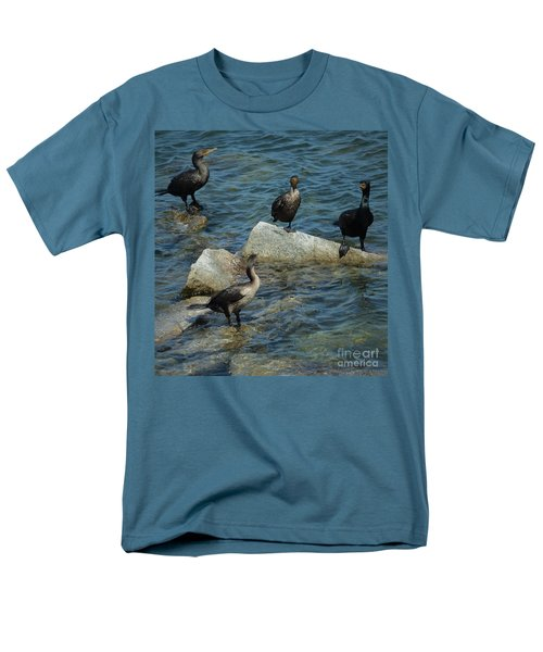 Men's T-Shirt  (Regular Fit) featuring the photograph Taking A Break From The Wind by Pamela Blizzard