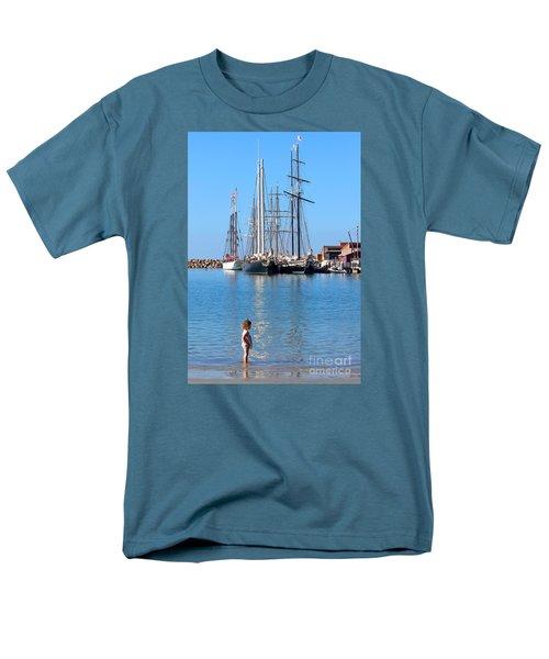 Tall Ship Festival Men's T-Shirt  (Regular Fit) by Cheryl Del Toro