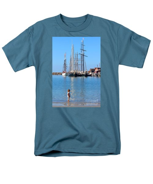 Men's T-Shirt  (Regular Fit) featuring the photograph Tall Ship Festival by Cheryl Del Toro