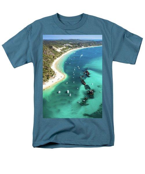 Tangalooma Wrecks Men's T-Shirt  (Regular Fit) by Peta Thames