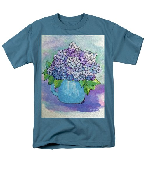 Men's T-Shirt  (Regular Fit) featuring the painting Teapot Hydranger by Rosemary Aubut
