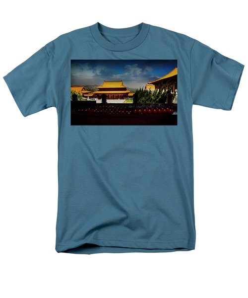 Men's T-Shirt  (Regular Fit) featuring the photograph Temple Candles by Joseph Hollingsworth