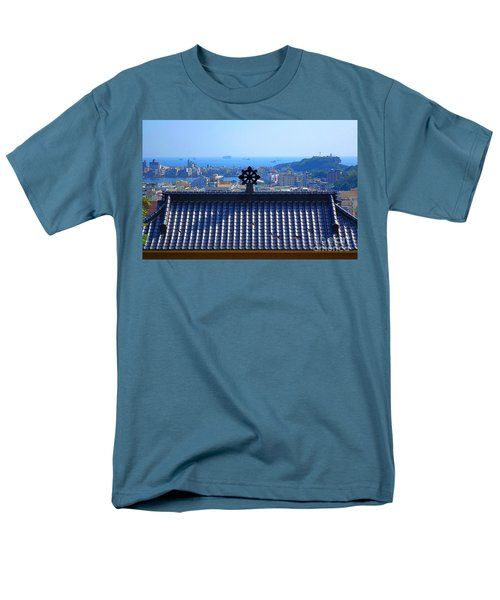 Temple Roof And Kaohsiung Port Men's T-Shirt  (Regular Fit) by Yali Shi