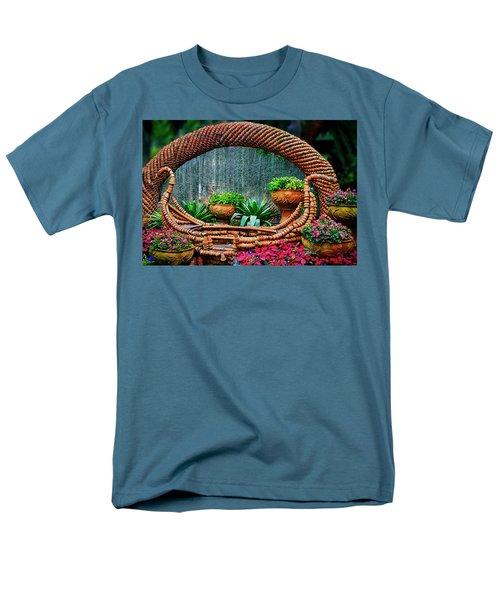 Men's T-Shirt  (Regular Fit) featuring the photograph Terra Cotta Pot Gondola Art by Joseph Hollingsworth