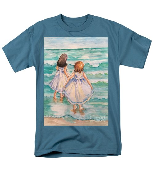 Men's T-Shirt  (Regular Fit) featuring the painting Testing The Waters by Rosemary Aubut