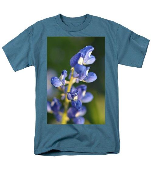 Men's T-Shirt  (Regular Fit) featuring the photograph Texas Blue Bonnet Details 1 by Carolina Liechtenstein