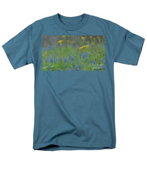 Texas Field With Blue Bonnets Men's T-Shirt  (Regular Fit) by Carolina Liechtenstein