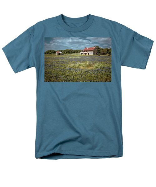 Men's T-Shirt  (Regular Fit) featuring the photograph Texas Stone House by Linda Unger