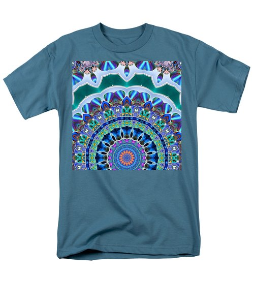 Men's T-Shirt  (Regular Fit) featuring the digital art The Blue Collective 03b by Wendy J St Christopher