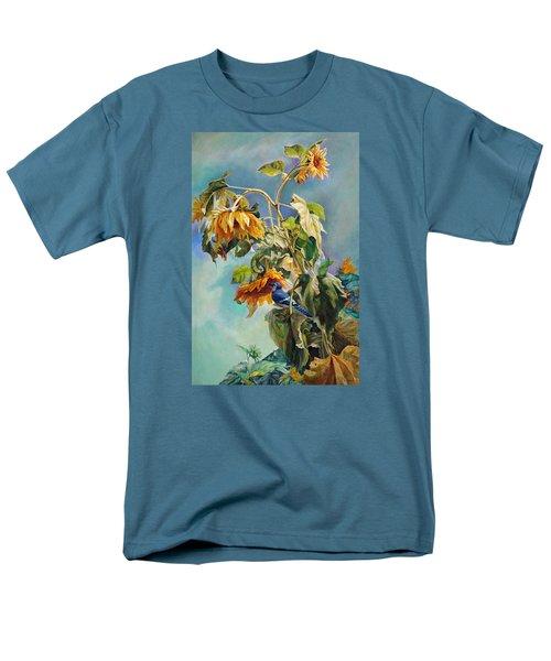 The Blue Jay Who Came To Breakfast Men's T-Shirt  (Regular Fit) by Svitozar Nenyuk