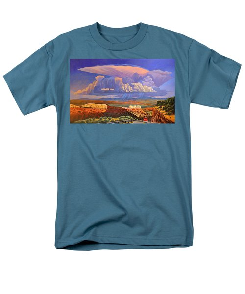 Men's T-Shirt  (Regular Fit) featuring the painting The Commute by Art West