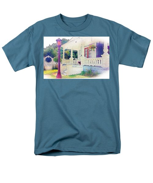 The Gate Porch And The Lamp Post Men's T-Shirt  (Regular Fit) by Becky Lupe
