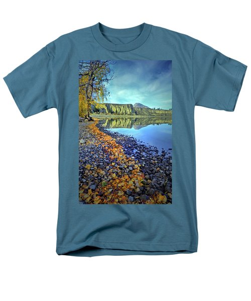 Men's T-Shirt  (Regular Fit) featuring the photograph The Hoodoos And Highway 97 by Tara Turner